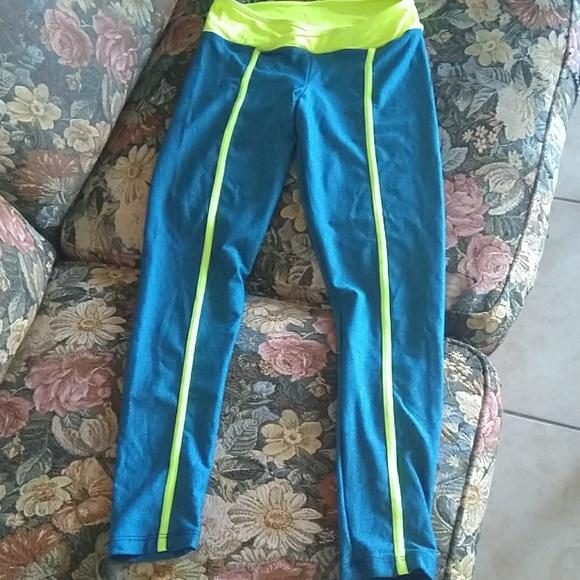 c3a0fed073 Arany Sport Pants | Blue Neon Leggings Size Small 10 | Poshmark